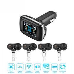 TP620 Nirkabel TPMS Mobil Pintar 12 V Digital Tekanan Ban Sistem Pemantauan Tekanan Ban Alarm Eksternal & Internal Sensor