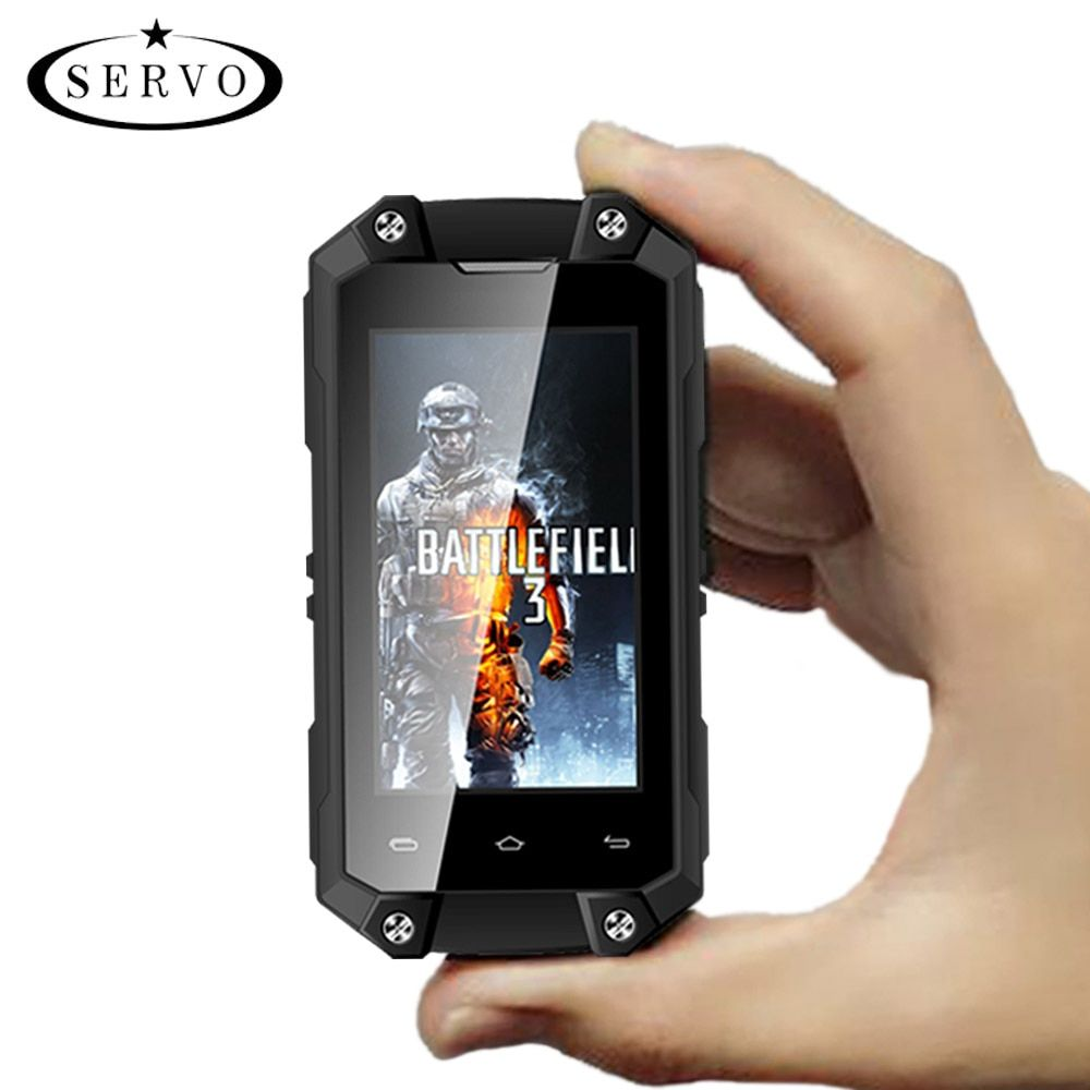 Original SERVO J5 Plus 2.45 MTK6580 mini Smartphone Android 5.1 RAM 1GB ROM 8GB Camera 5.0MP WCDMA <font><b>IP65</b></font> Waterproof Mobile Phone