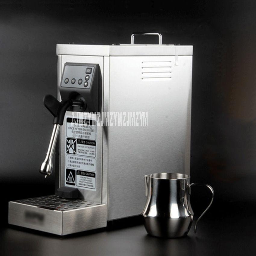 220 v/1450 watt dampf milch maschine business MS-130D/MS-130T professionelle doppel loch pumpe geprägt kaffee milch maschine