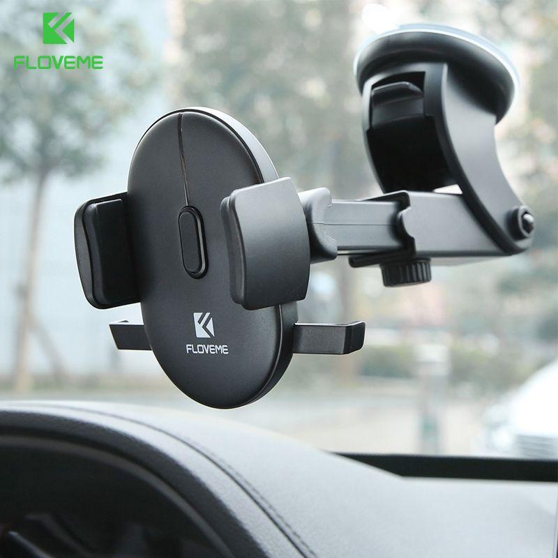 FLOVEME pare-brise voiture support pour téléphone pour iPhone 7 X XS Samsung 360 tableau de bord support de téléphone portable dans le support de voiture telefon tutucu