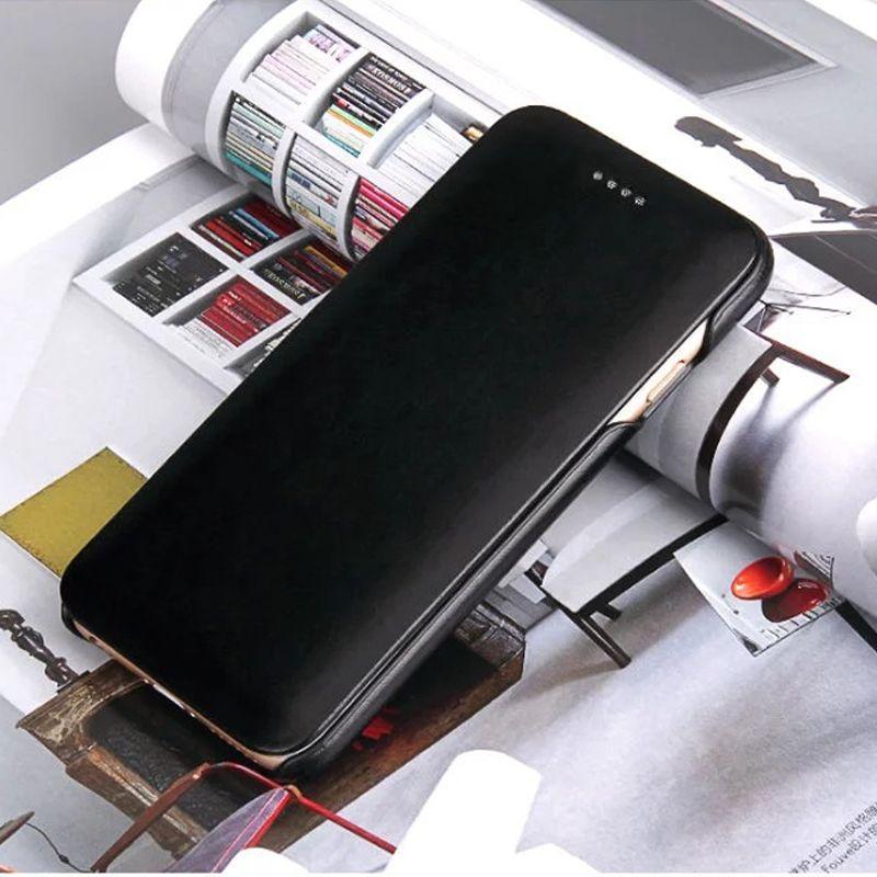 Classic Genuine Leather For iPhone 6 6SPlus Flip Case Cover For iPhone 7 4.7/ 7Plus5.5 Genuine Cowhide Mobile Phone bags case