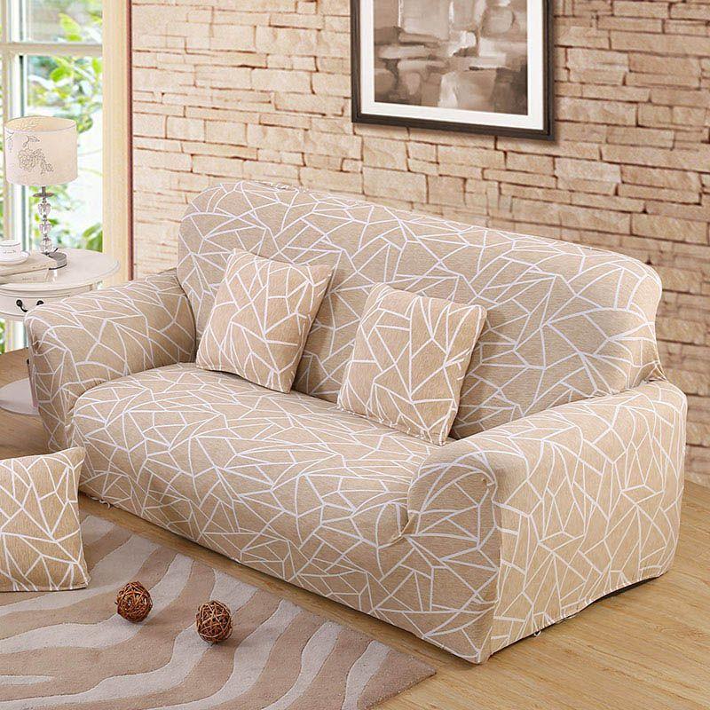 Housse de canapé Beige couvre meubles extensibles housses de canapé élastiques pour salon Copridivano housses pour fauteuils housses de canapé