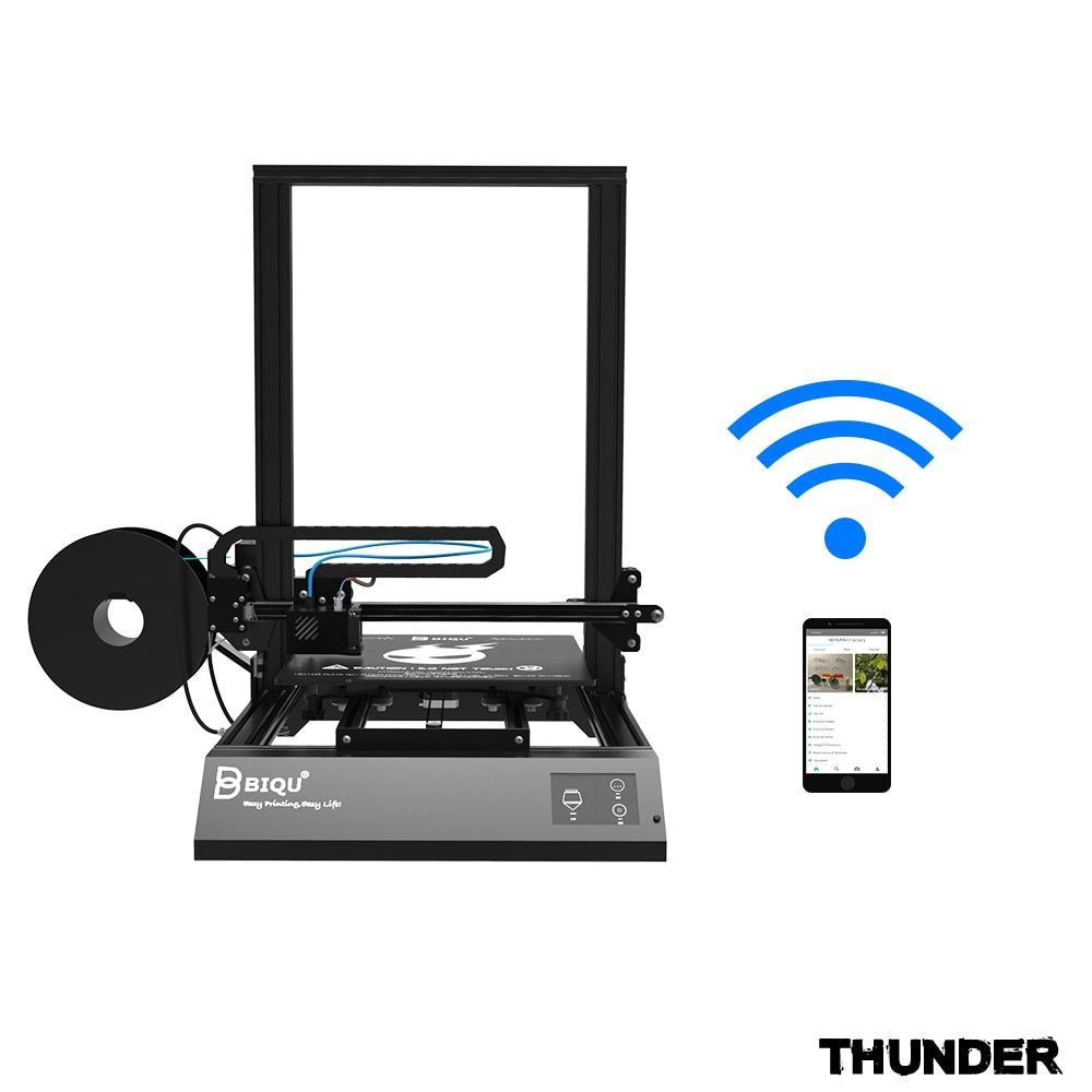 BIQU Thunder 3d printer large size with APP Auto-off and Power off resume print option Dua Z Rod 3D Drucker Impresora 3d Parts