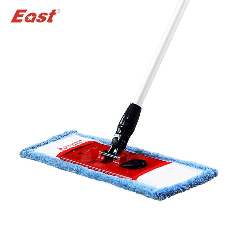 East Flat Mop Microfiber Cloth Floor Mop Telescopic <font><b>Pole</b></font> Mops Floor Cleaning Home Kitchen Room Dust Mop