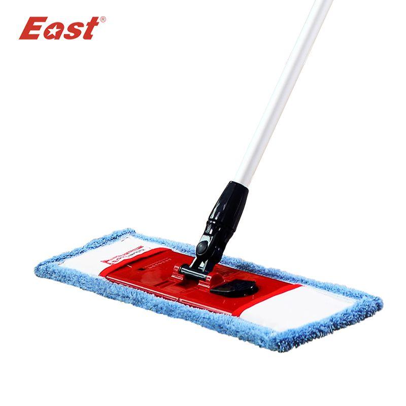 East flat <font><b>telescopic</b></font> pole microfiber cloth towel mop home floor kitchen living room cleaning dust mop supplier