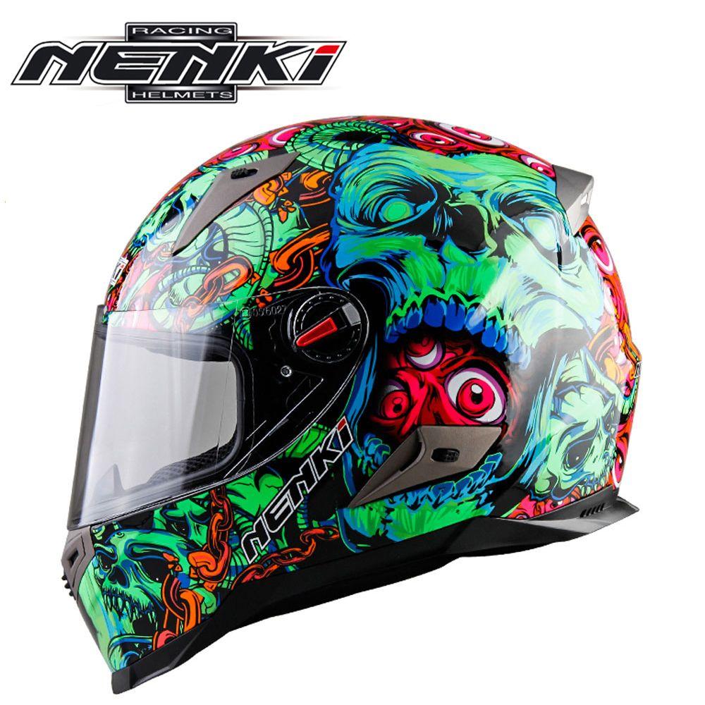 NENKI мотоциклетные Шлемы мотокроссу шлем мотоцикл полный Уход за кожей лица шлем Capacete де мото для Для мужчин и Для женщин 13 Цвет