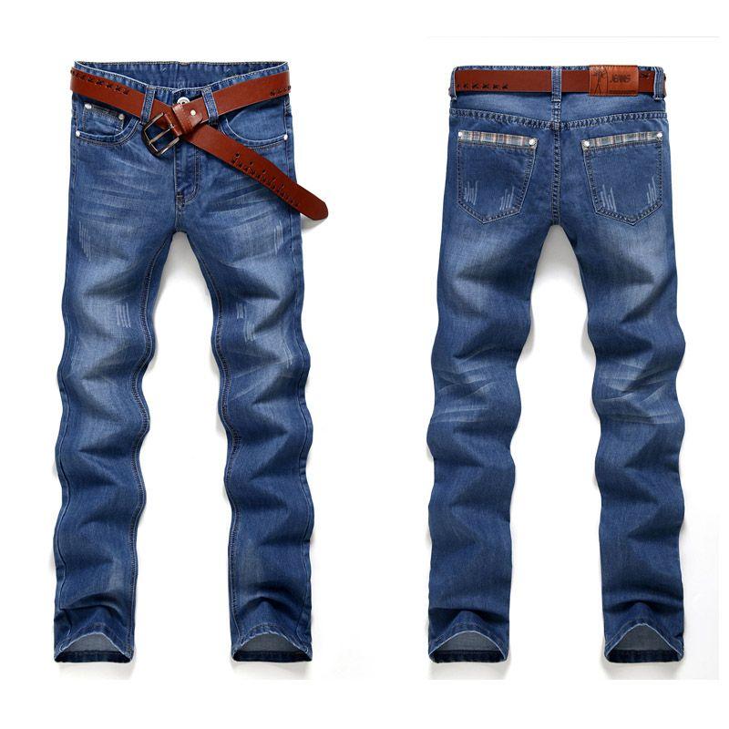 Brand Jeans Men Jeans Casual Fashion Male Pants Denim Male Pants Overalls Men Straight Men's Tactical Jeans No Belt