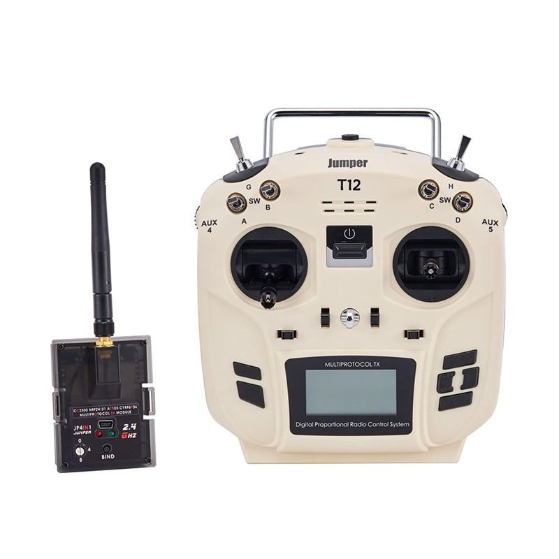 Jumper T12 OpenTX 16CH Radio Transmitter Remote Controller with JP4-in-1 Multi-protocol RF Module for Frsky JR Flysky Part