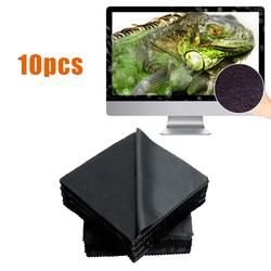 10pcs Durable 14x14cm Lens Sunglasses Eyeglass Glasses LCD Screen Microfiber Cleaning Cloth Wipes Cleaner Square