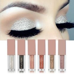 Hengfang Shimmer Metal Glitter Liquid Eyeshadow Waterproof Easy to Wear Liquid Eyeshadow Stick Beauty Tool Cosmetic