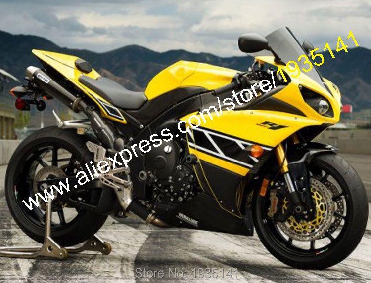 Hot Sales,For Yamaha Fairing YZF R1 2009 2010 2011 YZFR1 09-11 YZF 1000 YZF-R1 Yellow Black Moto Fairing Kit (Injection molding)