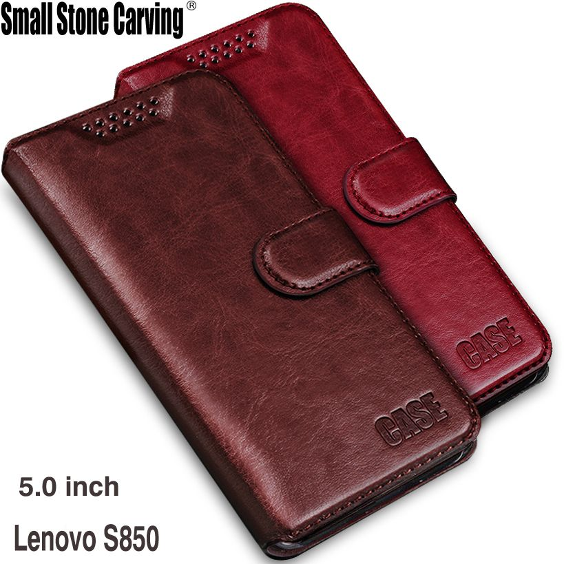 Luxury Retro Flip Case For Lenovo S850 Leather + Soft Wallet Stand Cover For Lenovo S850 s850t S850-t Case phone Fundas Coque