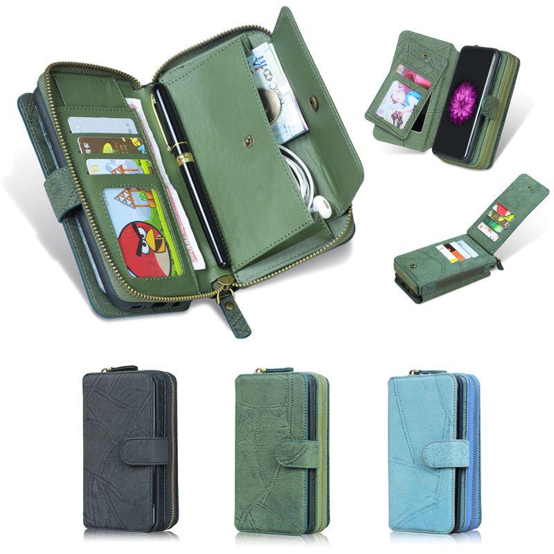 Étui portefeuille multifonction MEGSHI est applicable à l'iphone X XR XS étui combiné détachable coque sac à main haut de gamme