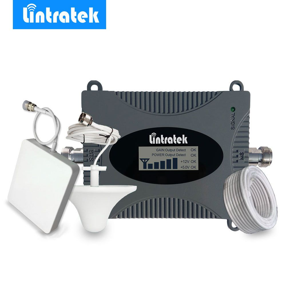 Lintratek LCD Display 4g LTE Signal Booster 2600 mhz 4g Antenne Mini FDD 4g LTE 2600 Band 7 Mobile Signal Repeater Verstärker Kit/