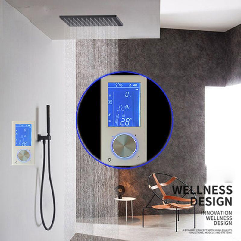 JMKWS LCD Digital Dusche Wasserhahn 2 Jets Smart Display Thermostat Dusche Mixer Touch Screen Control Temperatur Wasser Fluss Bad