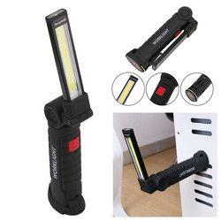 Pliable Flexible Main Torche Travail Lumière Magnétique Inspection Lampe COB LED lampe de Poche Torche Construit dans La Batterie USB Port de Charge