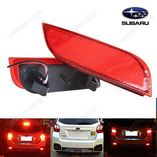 2x 26 SMD Red LED Bumper Reflector Tail Stop Brake Light Subaru Exiga Legacy XV (Fits: Subaru)