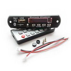 Grosir DC7 ~ 12 V Mobil Handsfree Bluetooth MP3 FLAC Decode Papan dengan Modul Bluetooth FM MP3 KIT Kartu TF USB Audio Decoder DIY