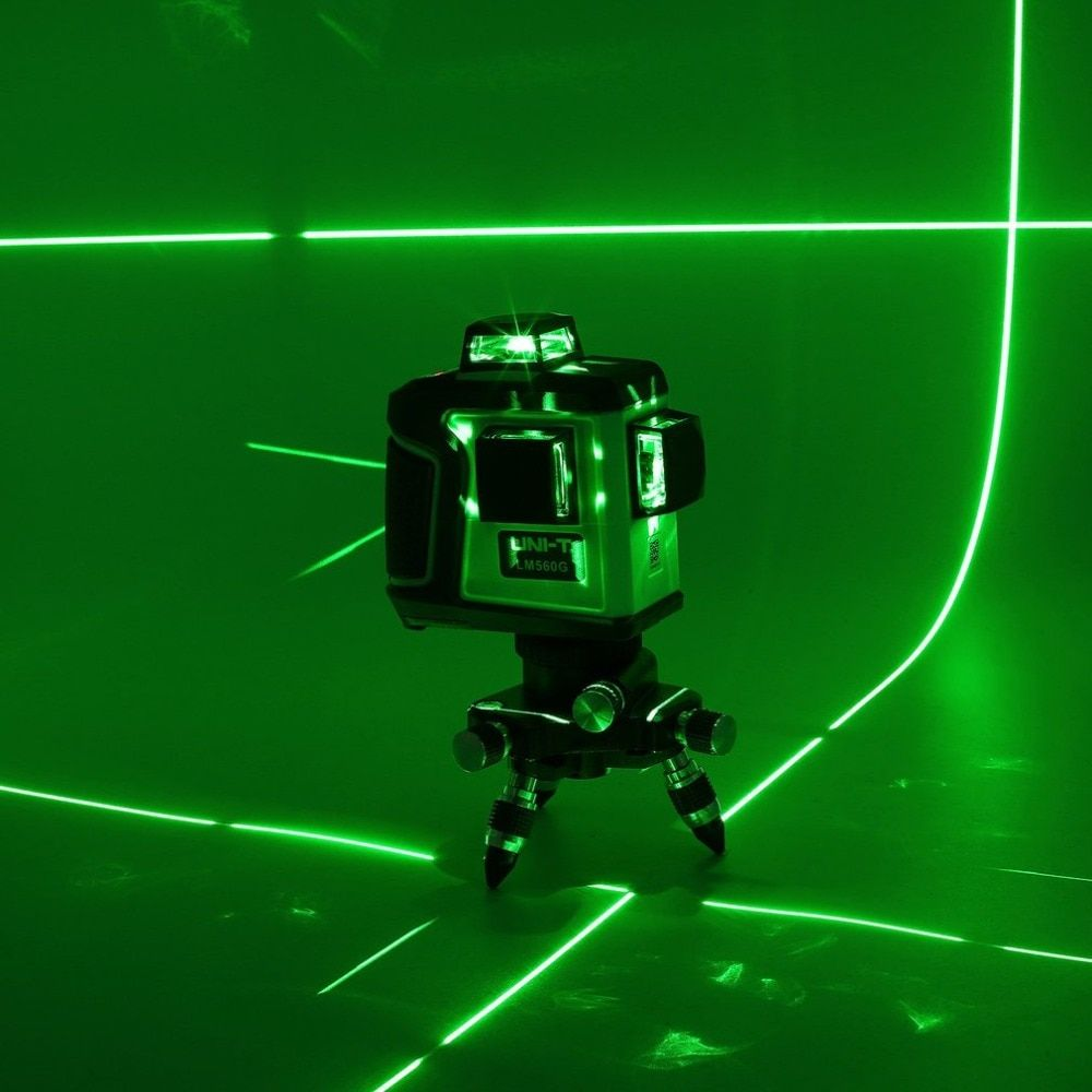 UNI-T LM560G 12 Line LD Green Light Level Touch High Precision Laser Level Gauge With Large Capacity Lithium Battery