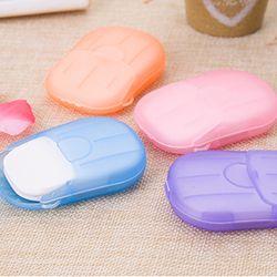 Y & W F 20 шт. одноразовые мыло в коробке бумага Путешествия Портативный Ручная стирка Box Ароматические ломтик простыни детские мини мыло