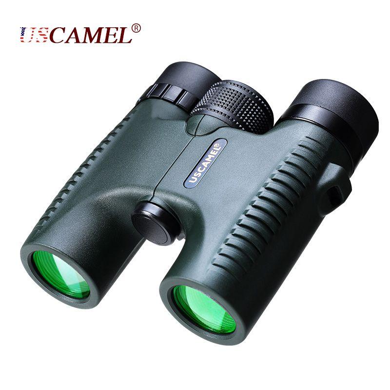 USCAMEL militaire Compact 10x26 HD jumelles étanches Vision claire Zoom télescope professionnel pour voyage chasse en plein air