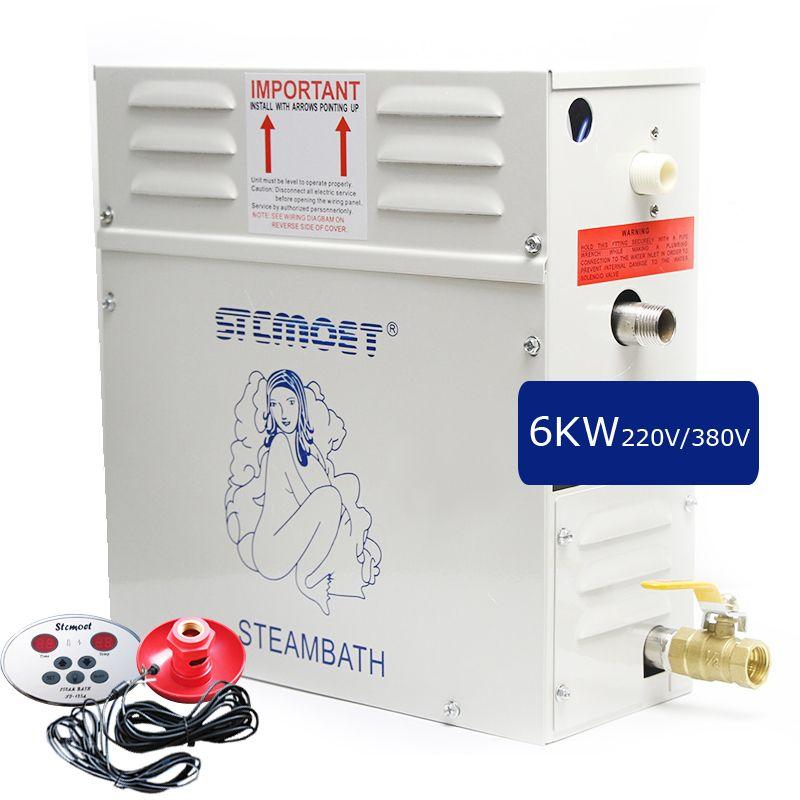 6 KW 220 V/380 V Sauna Maschine Dampfbad Generator Gewicht Verlust Spa Entspannt Müde Dampf Bad ST-60