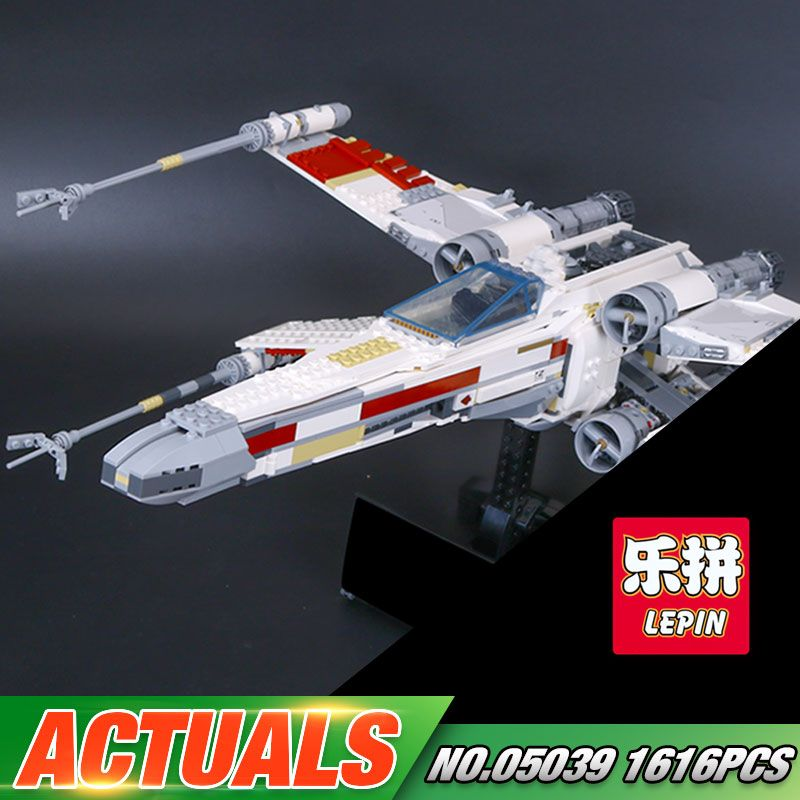 DHL Lepin 05039 Star Series War The 10240 X Model Wing Red Five Star fighter Set Building Blocks Bricks Kids Toys Chritmas Gifts