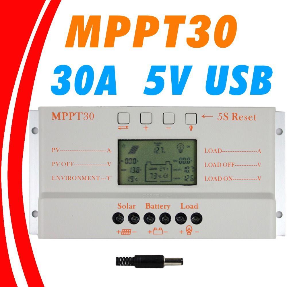 MPPT 30A LCD de Charge Solaire contrôleur 12 v 24 v auto commutateur écran LCD MPPT30 Solaire contrôleur de charge MPPT 30 chargeur contrôleur