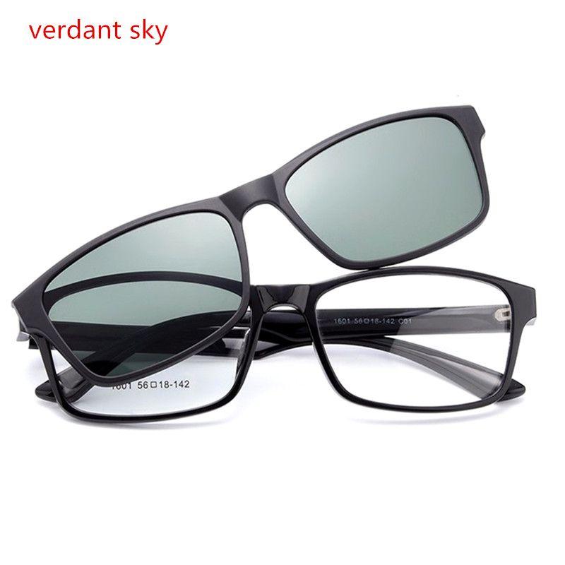2017TR90 New Cool Lentilles Clip Sur lunettes de Soleil Hommes Flip Up Clips Conduite Lunettes de Soleil Femmes Super Léger lunettes de Lecture Original boîte