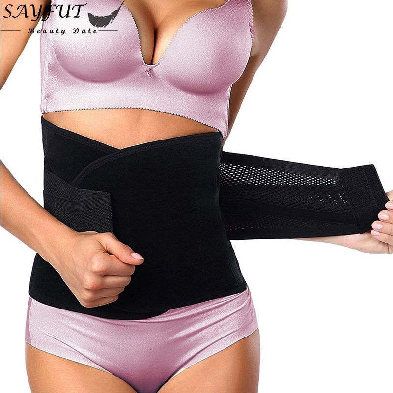 Women Waist Trainer Belt Belly Band Belts Body Shaper After Birth Slim Belt Corset Postpartum Tummy Trimmer Body Fat Burne