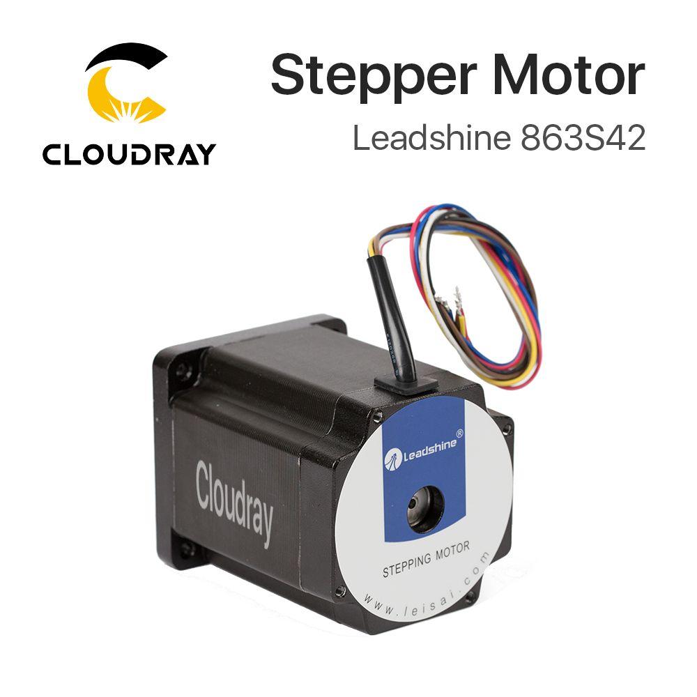 Cloudray Leadshine 3 Phase Stepper Motor 863S42 for NEMA34 4.3A Length 103mm Shaft 12mm
