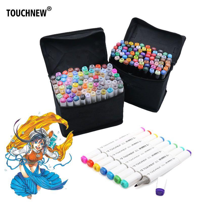 Товары для рукоделия 60 Цвета маркеры Pen Картина Manga Книги по искусству маркер набор канцелярских ручка для школы эскиз маркеры кисть canetas