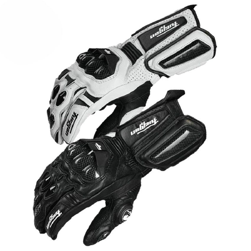 Moto en Fiber De carbone Gants En Cuir Gant Hommes Vélo Racing Gants Moto Moto Luvas