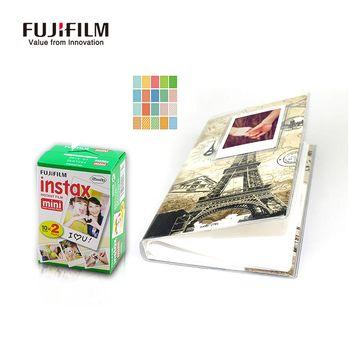 Fujifilm Instax Mini 9 8 90 Film 10x2 Feuilles Instax Mini Tour Eiffel Photo mémoires Fuji Mini Caméra film + 20 frontière autocollants