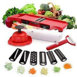 Измельчитель овощей мандолина Овощечистка резак Multi-function морковь лук инструменты для фруктов кухонные аксессуары для приготовления пищи