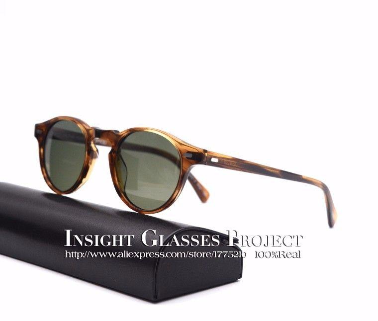 high quality men and women sunglasses famous brand ov5186 Gregory Peck polarized sunglasses round glasses eyeglasses oculos de g