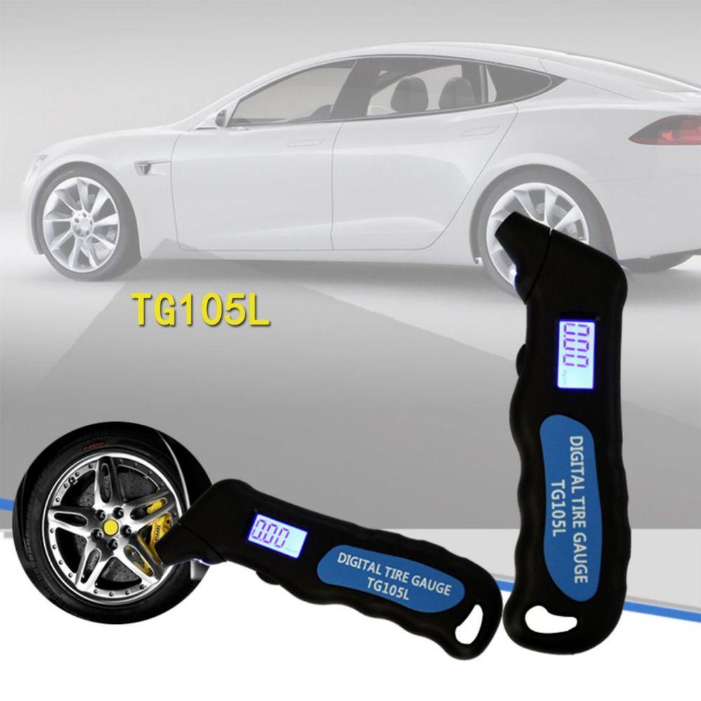 New TG105 Digital Car Tire Tyre Air Pressure Gauge Meter LCD Display Manometer Barometers Tester for Car Truck Motorcycle Bike