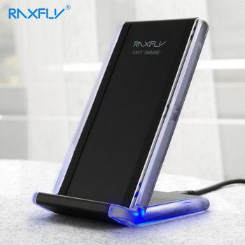 QI Беспроводной Зарядное устройство raxfly телефон Зарядное устройство для Samsung S8 плюс S7 S6 края Примечание 8 5 В/1A быстро зарядка держатель для ...