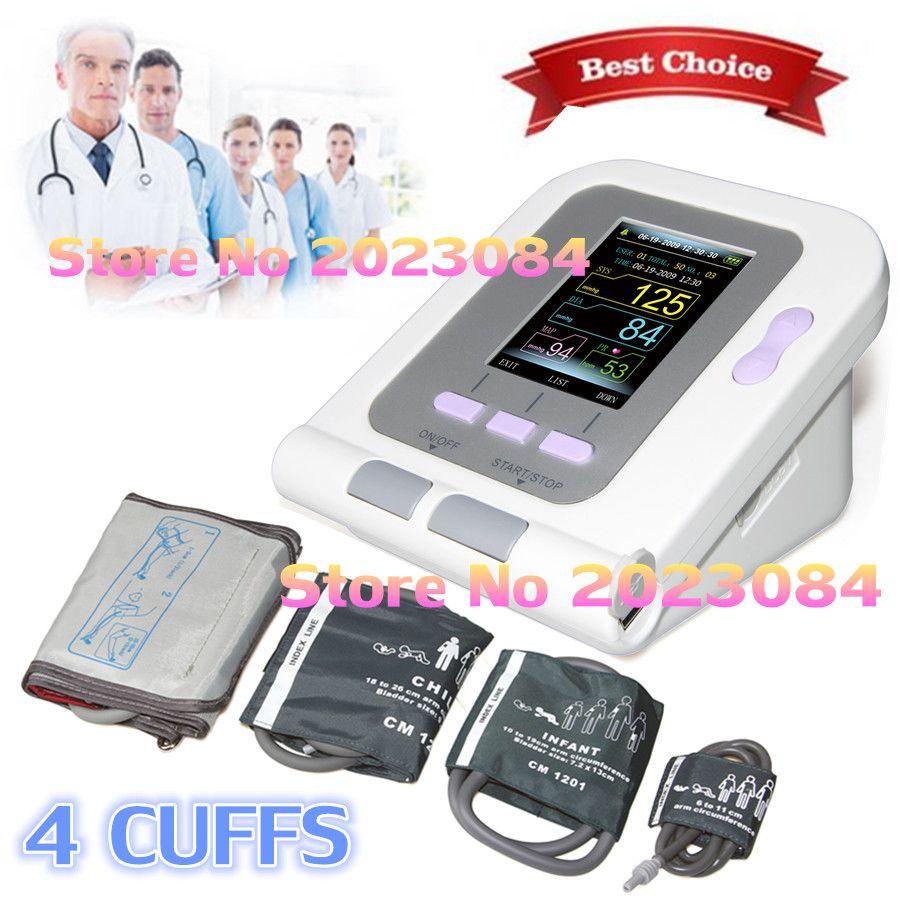 Contec Digitales Blutdruckmessgerät CONTEC08A + Neugeborenen/Kind/Kind/Erwachsene 4 manschetten HEIßER VERKAUF