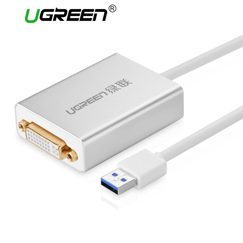 Ugreen USB 3.0 zu DVI/HDMI/VGA Externe Mult-Display Adapter High Premium 1066 MHz 80 cm Kabel Adapter Unterstützung 6 Mointors