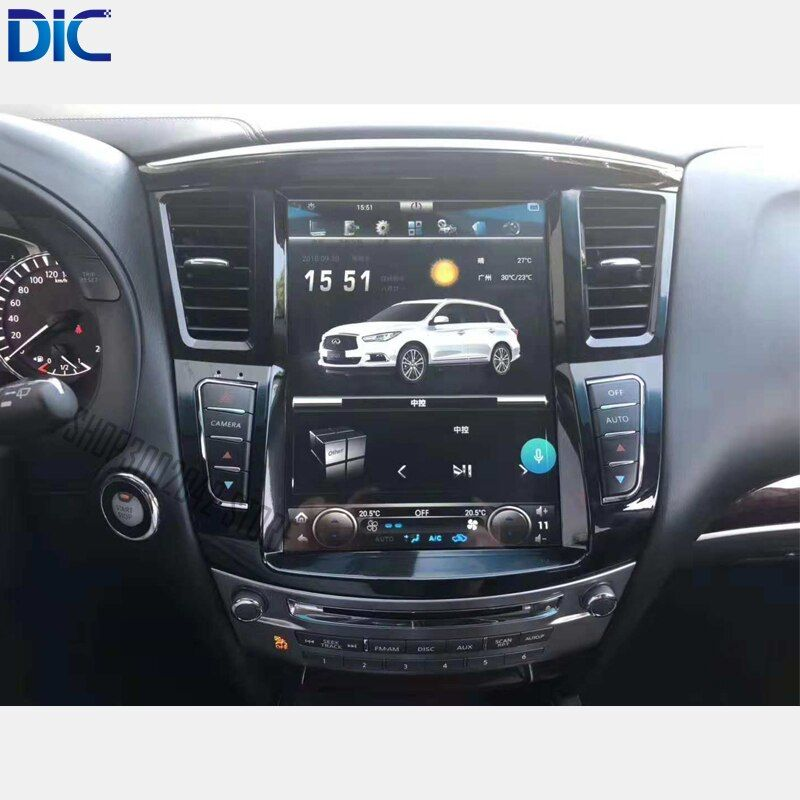 6,0 Android system vertikale bildschirm auto styling navigation gps multimedia auto player mp3 Für Infiniti QX60 Q60