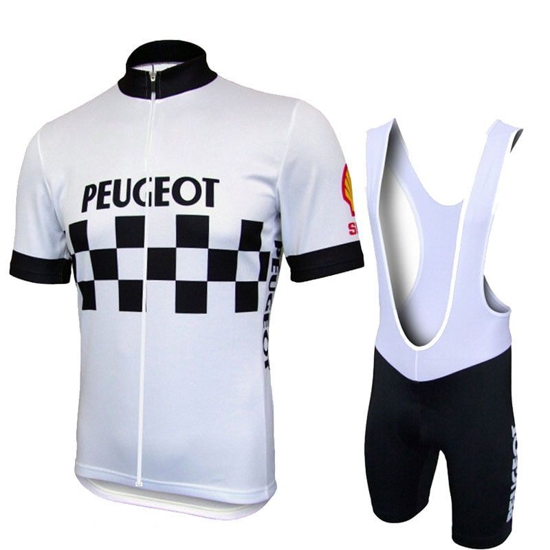 Hot Sale <font><b>Peugeot</b></font> Shell Team Pro Cycling Sets Men MTB Shirts Breathable Bike Clothing Kits Quick Dry Sport Tops Cycling Jerseys