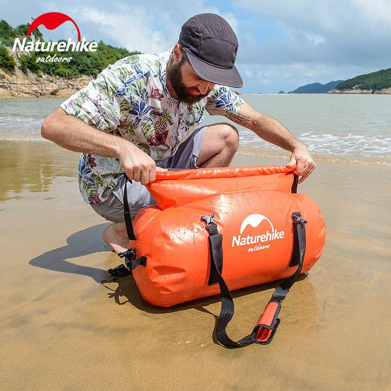 NatureHike Schwimmen Rafting Rucksack Sport Wasserdichte Taschen Langlebig Strand Lagerung Hohe Kapazität Tasche für Schwimmen 40L 60L 90L 120L