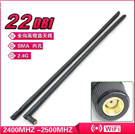 1 PCS 802.11b / G / n 2.4 G 22dBi antenne High Gain WIFI Booster sans fil RP-SMA antenne omnidirectionnelle