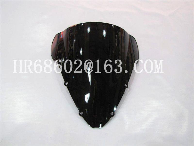 For Honda CBR 600 F4I CBR600 f4i  2001 2002 2003 2004 2005 2006 2007 cbr Black  Windshield WindScreen Double Bubble