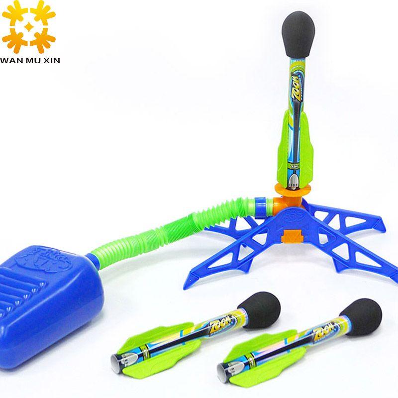 2019 enfants enfants jouets de plein air vacances amusant Sport jouer Zing Zoom Rocketz bulle fusée ensemble saut Jet lanceur bas remplisseur jouet