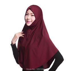1 pc Femmes de longs Hijabs pour l'islam musulman toute la saison printemps été hiver automne coton 96 CM * 82 CM 1 pc/ensemble 20 couleurs peut choisir