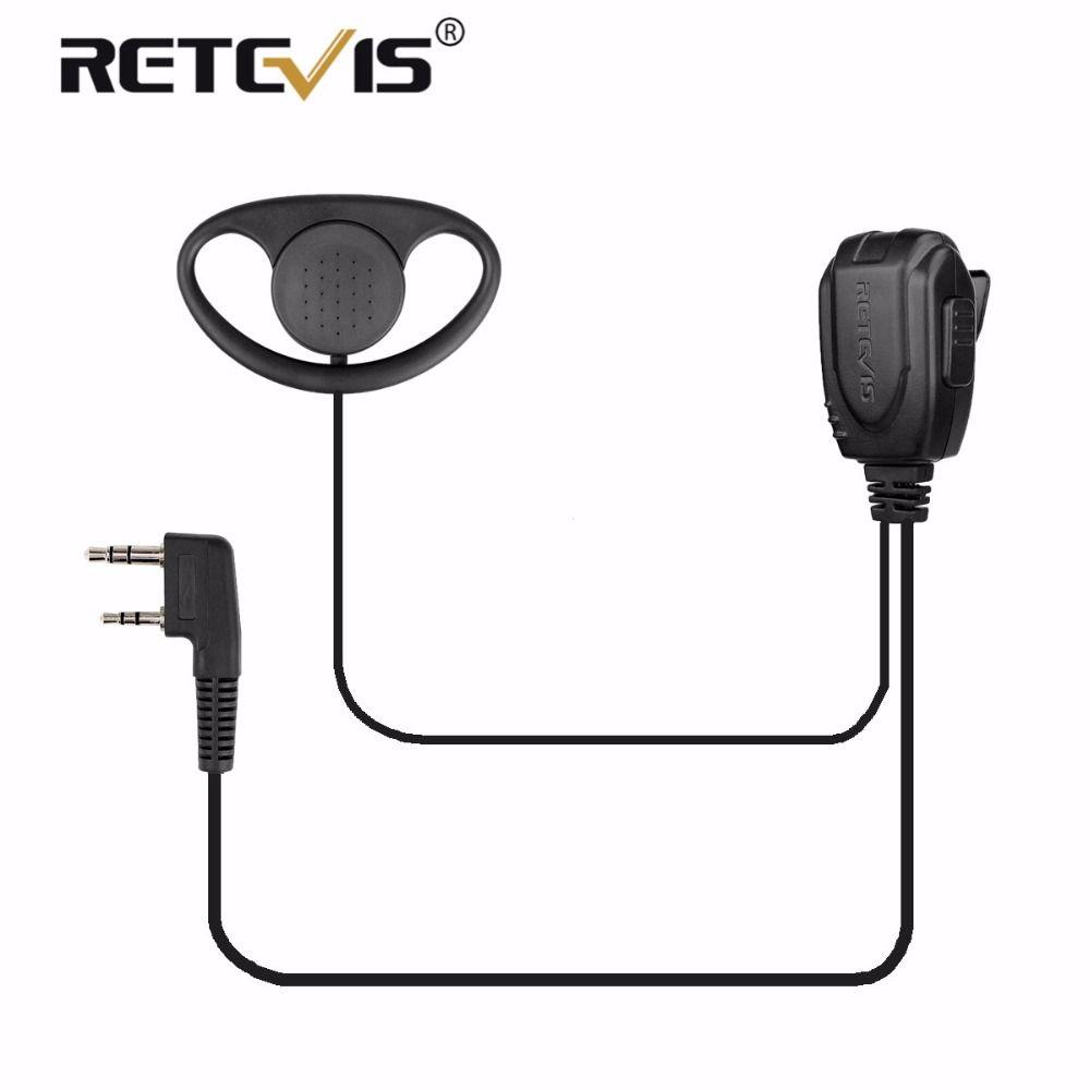 D-type Earhook Earpiece Headset Walkie Talkie Headphone For Retevis H777/RT21/RT22/RT81/RT7 For Kenwood Baofeng UV5R UV-82 888S