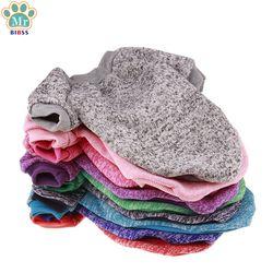 Color sólido caliente perro ropa de invierno Jersey de algodón suave perrito ropa abrigos para perros pequeños Chihuahua Navidad mascota vestuario