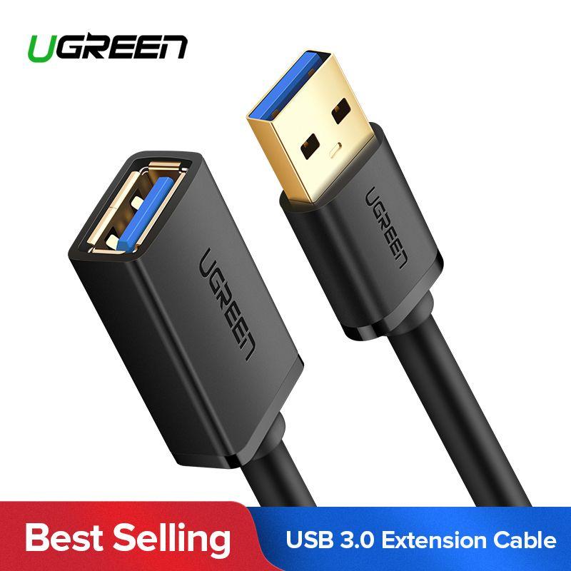 Ugreen USB Verlängerung Kabel USB 3.0 Kabel für Smart TV PS4 Xbox Eine SSD USB3.0 2,0 zu Extender Daten Kabel Mini USB Verlängerung Kabel